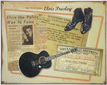 Personnal Items of Elvis ( Disc. ) Metal Sign
