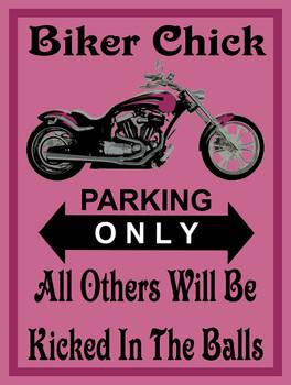 Biker Chick Metal Sign