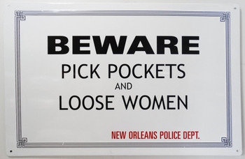 Beware Pick Pockets and Loose Women (Disc)