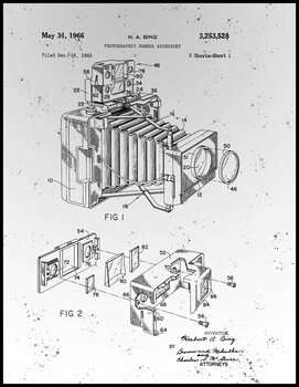 Vintage Camera Patent Metal Sign