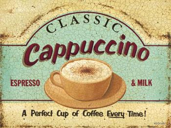 Classic Cappuccino Metal Sign