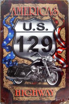America's US 129 Metal Sign