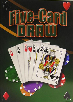 Five-Card Draw Metal Sign