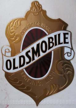Oldsmobile Shield Embossed Metal Sign