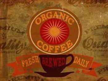 Organic Coffee Metal Sign