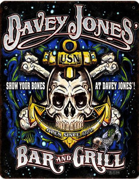 Davy Jone's Bar & Grill Metal sign