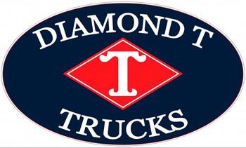 """Diamond T Trucks Metal Sign 24"""" by 14"""""""