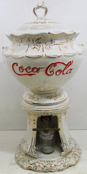 Coca Cola Syrup Ceramic Dispenser Circa 1960's