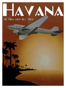 Havana-Majestic Airways Metal Sign