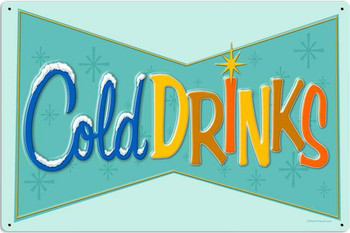 Cold Drinks (large) Metal Sign