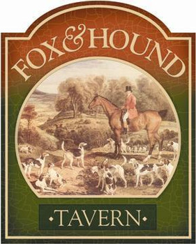 Fox & Hound Tavern Pub Sign