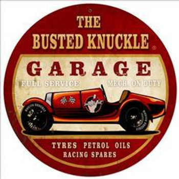 """Busted Knuckle Old Car Race Car (14"""" round)"""