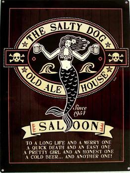 Salty Dog Saloon Metal Sign