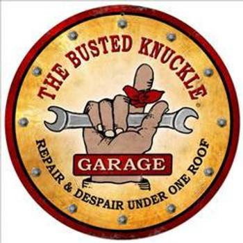 "Busted Knuckle Garage (14"" round)"