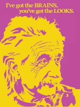 Einstein Metal Sign