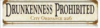 Drunkenness Prohibited