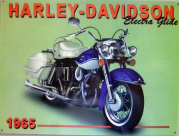 1965 Electra Glide Harley-Davidson Metal Sign