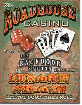Roadhouse Bar & Casino Metal Sign (DISC)