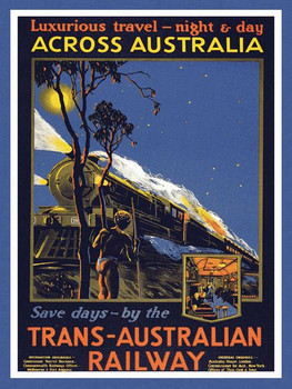 Trans-Australian Railway Metal Sign