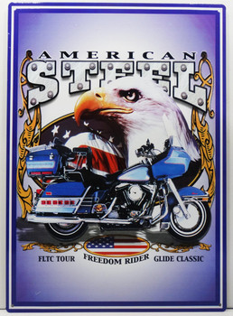 American Steel FLTC Tour Freedom Rider Glide Classic Metal Sign