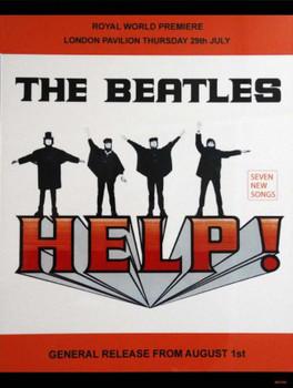 Beatles-Help! Metal Sign
