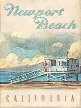 Newport Beach Lifeguard Station Metal Sign