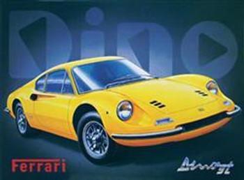 Dino Ferrari Metal Sign