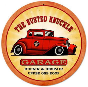 """Busted Knuckle Hot Rod ( 14"""" Round)"""