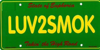 LUV2SMOK (plate)