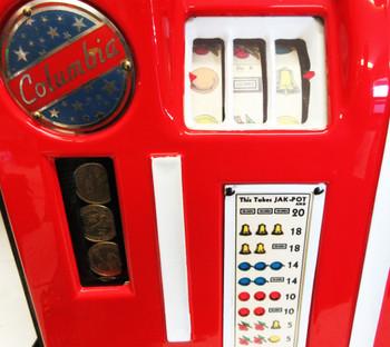 Columbia 25c Slot Machine Fully Restored Circa 1940's