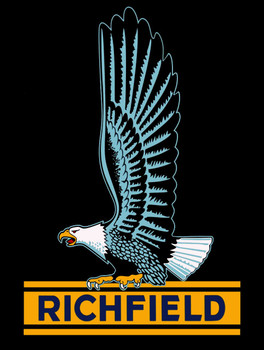 Richfield Logo metal sign