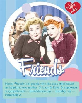 Lucy-Friends (disc) Metal Sign