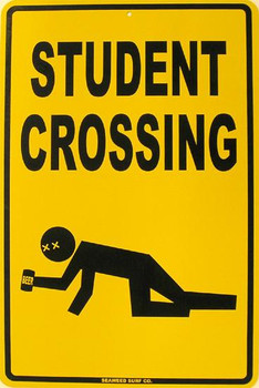 Student Crossing Aluminum Sign