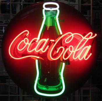 """Coca-Cola 24"""" Neon Button"""