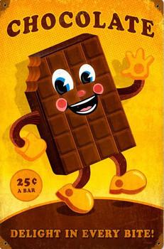 Chocolate Candy Bar Metal sign