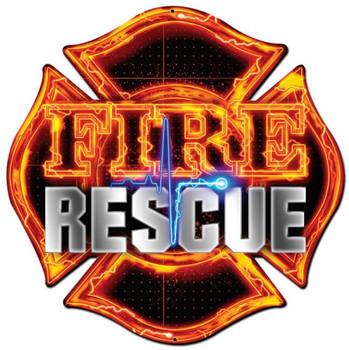 Fire Rescue Plasma Cut Sign