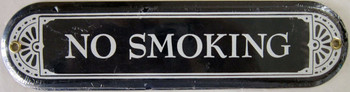 No Smoking Plaque Porcelain Sign