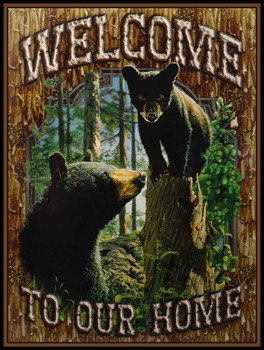 Welcome To Our Home Metal Sign