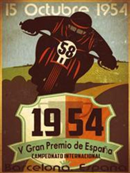 Grand Prix Spain 1954 Metal Sign