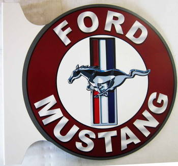 Ford Mustang Flange Sign 12""