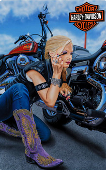 Finishing Touch Babe Harley-Davidson Metal Sign