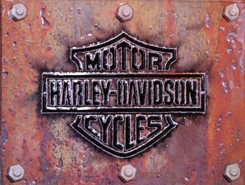Distressed Logo Harley-Davidson Motorcycles Metal Sign