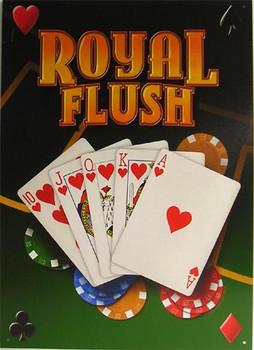 Royal Flush Metal Sign