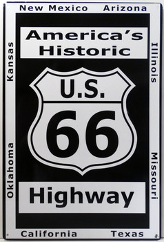 America's Historic U.S. 66 Metal Sign