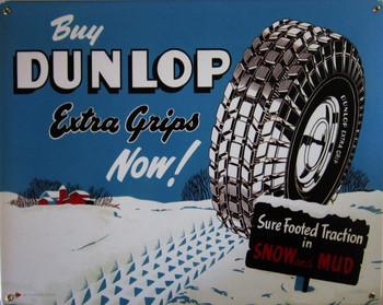 Dunlap Tires Metal Sign