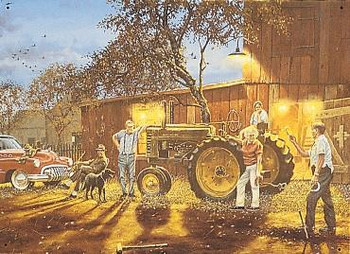 Hadley-Tractor / Horseshoes Metal Sign