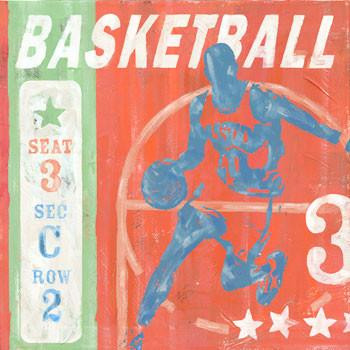 Basketball Metal Sign