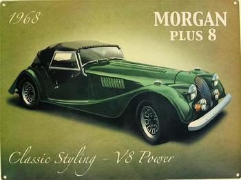 Morgan Plus 8 Metal Sign