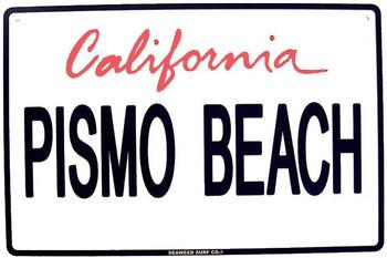 Pismo Beach-Cal.  Metal Plate