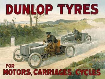 Dunlop Tyres Metal Sign